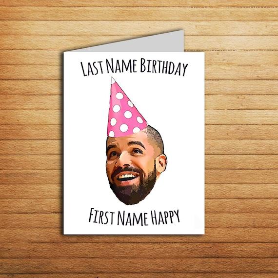 Drake Birthday Card For Boyfriend Printable By EnjoyPrintable
