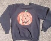 Vintage: halloween pumpkin sweater
