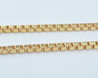 """Pinky 18K Gold Filled Chain 18.5"""" Inch Cg38"""