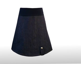 Jeans skirt 38 A line skirt dark blue dress time, denim skirt, a-line skirt, Womans skirt, A line skirts