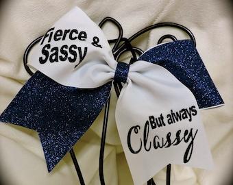 CHOOSE your GLITTER Cheer/Hair Bow