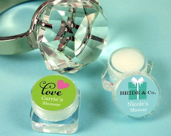 Personalized Theme Lip Butter - Lip Balm Favors- Bridal Party Gifts - 24 pieces