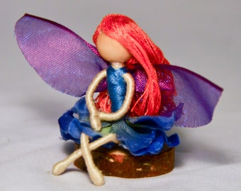 Spring Blue Pocket Fairy Doll