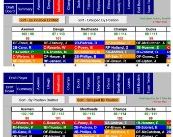 2017 Fantasy Baseball Draft Software