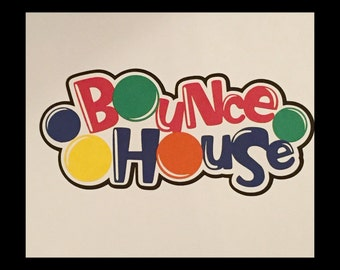 Bounce house Scrapbooking die cut title Free shipping!!!