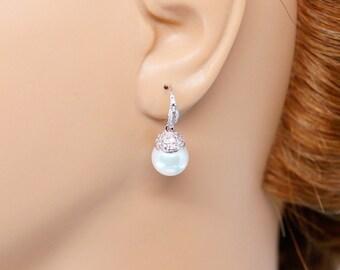 Pearl Earrings, Wedding Pearl Earrings, Wedding Jewelry, Wedding Earrings, Freshwater Pearl Earrings,  Bridesmaid Earrings, Bridal Earrings