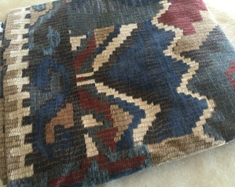 1 1/4th yards of Southwest fabric. Nice for reupholstering or pillows. Beautiful earth tones. Original screen print design by Richloom.