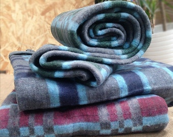 Vintage Recycled Blanket/Throw - 180cm x 200cm