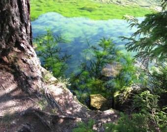 Lake reflections to Champeix (3/15)