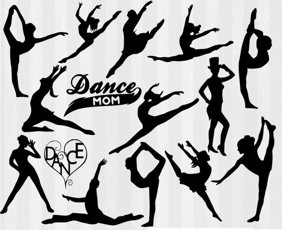 Dancers Svg File Cutting Template Clip Art By