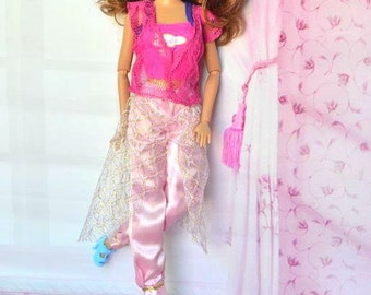 Modest Barbie Clothes, Barbie Casual Wear, Belt-Skirt-Vest-Shoe, Modest Doll Clothes, Girls Birthday Day Gift, Modest Barbie, Barbie fashion