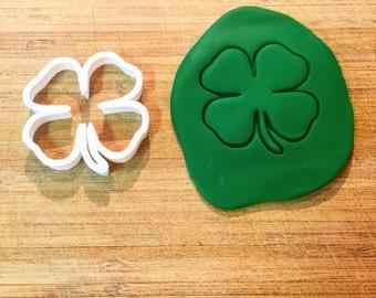 136. Four Leaf Clover Cookie Cutter, Fondant Cutter, 3D Printed