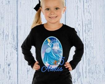 Cinderella Birthday Shirt - Cinderella Shirt - Long Sleeve Options