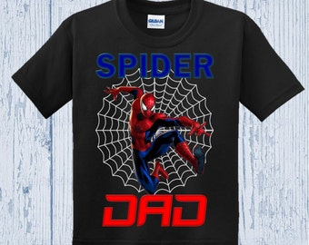 Spiderman Birthday Dad Shirt
