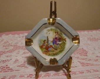 small french lustre ashtray