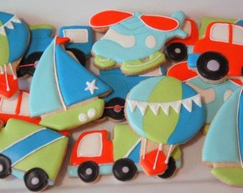 Boy Transportation Cookies
