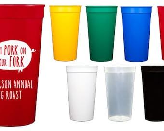 Personalized Stadium Cups {32 oz}