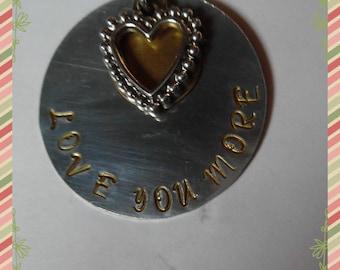 Love You More, iron, swivel Key Chain, valentines gift, boyfriend jewelry, girlfriend jewelry, romantic,Tibetan antique silver charm