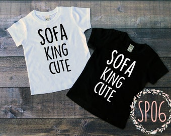 Sofa king cute baby toddler tshirt/onesie, funny baby shirt,adult humor baby one piece, baby shower gift, parody baby gift,hipster,toddler