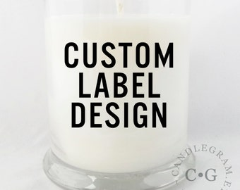 Soy Candle, CandleGram 10oz ... Custom Candle Design