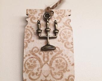 Gold Candelabra Bookmark
