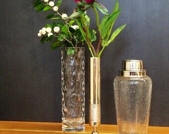 Silver vase or candle holder, vintage, 70s, retro