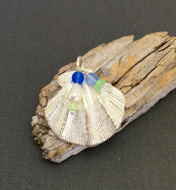seashell pendant by superbsilver on etsy