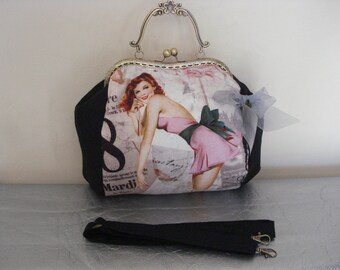 Bag girl pin-up