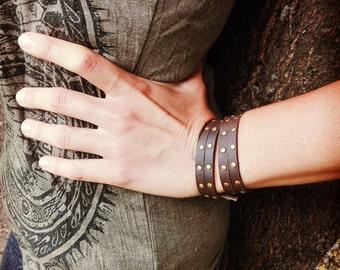 Glam leather bracelet