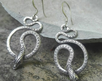 Snake earrings in Silver 925