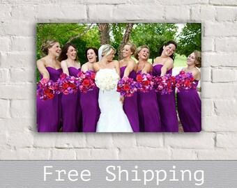 Bridesmaid Gift - Made of Honor Gift - Canvas Print - Custom Canvas Print - Wall Decor - Anniversary Gift - Free Shipping