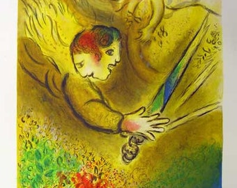 Marc Chagall 1974 Vintage Art Poster