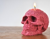 Skull Ya Later - Handmade Vegan Soy Red Skull Candle - Goth Chic