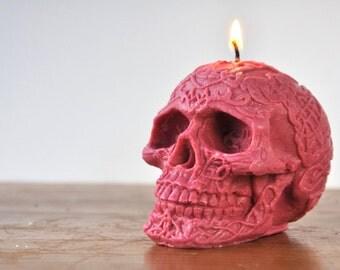 Skull Ya Later - Handmade Vegan Soy Red Skull Candle - Goth Chic