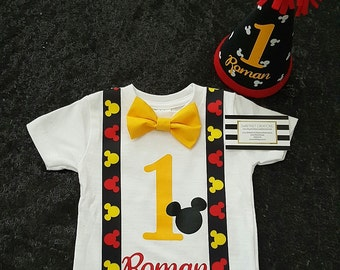 Custom Mickey mouse birthday shirt and hat