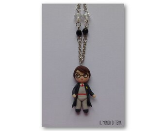 Harry Potter. Handmade necklace in polymer clay, customizable.