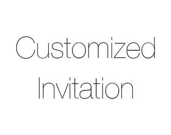 Customized Baby Shower/Birthday Invitation
