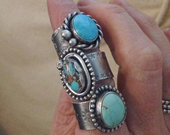 Natural Kingman turquoise ring s-7