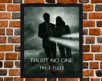 Framed The X Files TV Series Mully & Sculder Poster A3 Size Mounted In Black Or White Frame