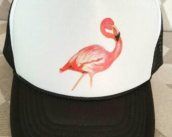 Child's Size Flamingo Trucker Hat