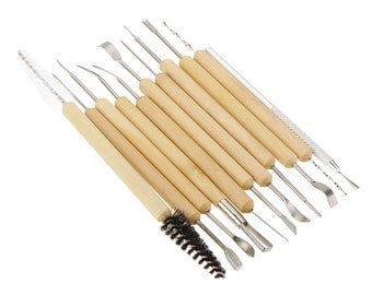 11 Piece Pottery Ceramics Sculpting Polymer Clay Sculpting Art Tool Set Art Supply Pottery Tools for Modeling Clay Tool