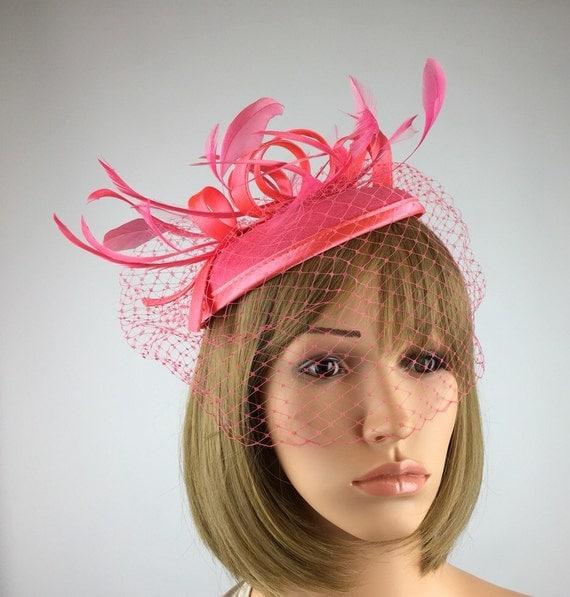 Coral Pink Salmon Fascinator Coral Fascinator Wedding Hat
