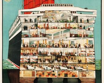 Cunard Line Vintage Advert