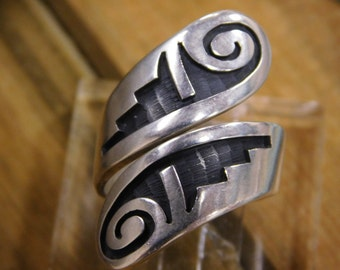 Hopi Wrap Around Sterling Silver Ring