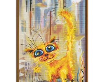 Cross Stitch Kit Red rowdy (cat)