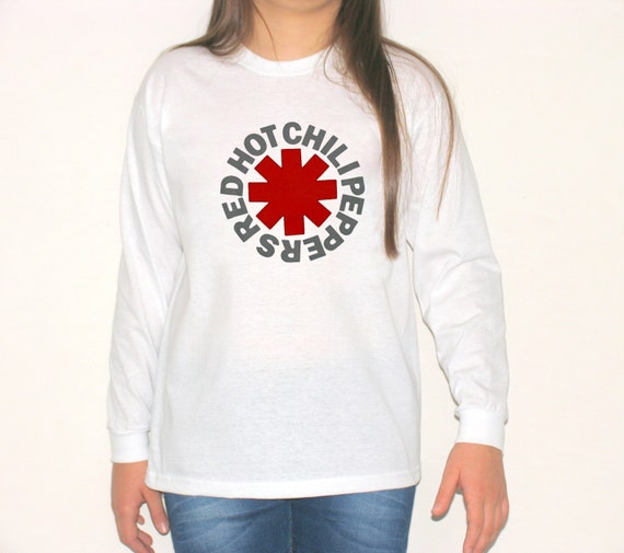 Red hot chili peppers logo long sleeve t shirt rhcp by for Chip and pepper t shirts