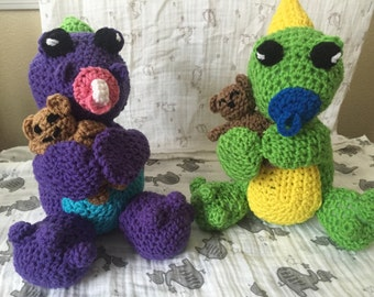 Crochet dinosaur stuffed animal