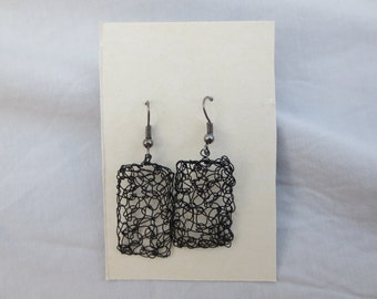 Handmade Crochet Wire Earrings