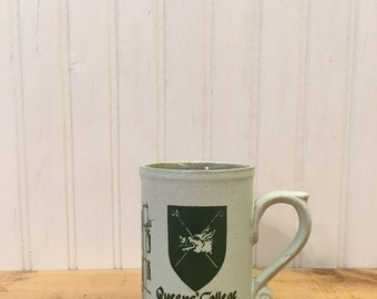 Queen's College Cambridge Coffee Stoneware mug made by Laugharne Pottery