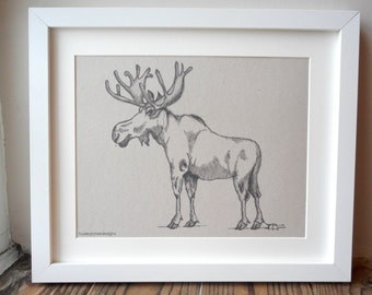 Moose Print A4 (unframed)